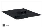 Prostup solárních kabelů prům. 2x31-45mm, černá