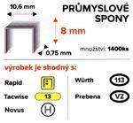 Spony ENPRO 8mm/10,6mm 1400ks