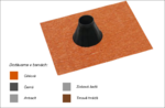 Střešní manžeta RoofSEAL RGD50 průchod 50-70mm, cihlová