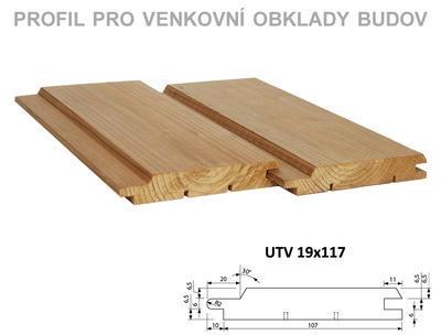 Fasádní palubka UTV 19x117mm x 4,5m