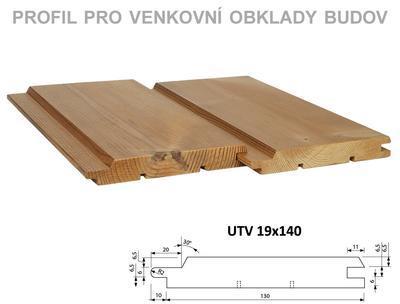 Fasádní palubka UTV 19x140mm x 3m