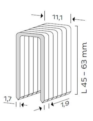 Spona typ Q, L - 45mm, 10tis.ks/bal