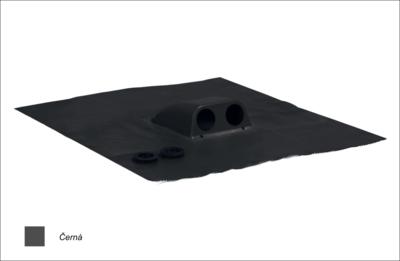 Prostup solárních kabelů prům. 2x31-45mm, černá  - 1