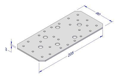 Spojovací deska kombi FV 90x205x3mm