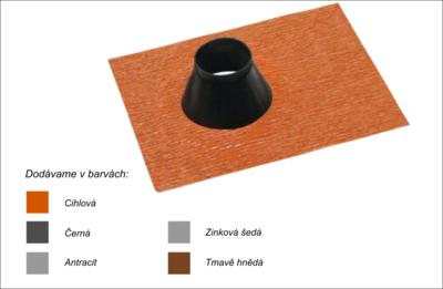 Střešní manžeta RoofSEAL RGD75 průchod 75-90mm, cihlová - 1
