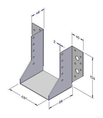 Trámová botka typ 1, 100x124x2mm - 1