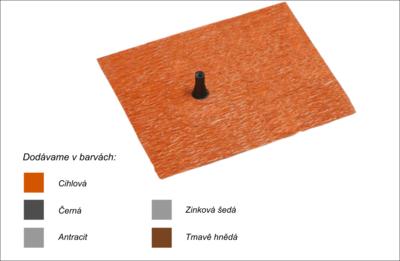 Střešní manžeta RoofSEAL GD21 průchod 15-22mm, cihlová - 1