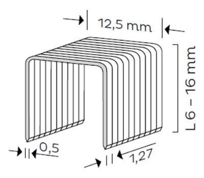 Spona typ A, L - 10mm, 5000ks/bal