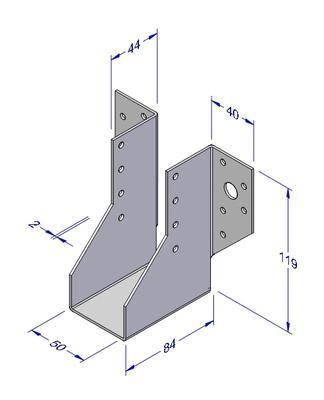 Trámová botka typ 1, 50x120x2mm - 1