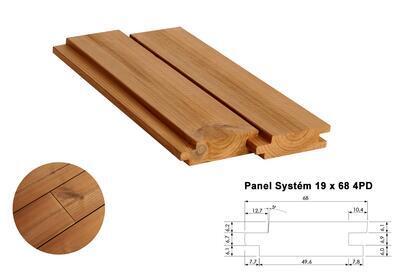 Panel Systém 19x68mm x 4,2m, 4 strany PD