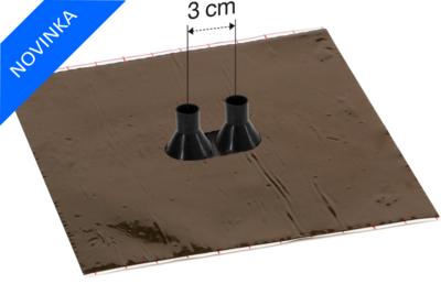 Dvojitá manžeta Alu-Butyl GDD21 pro kabely 15-22mm - 1