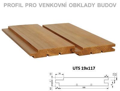 Fasádní palubka UTS 19x117mm x 4,2m