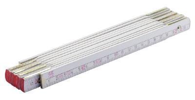 Metr skládací dřevo PROFI 1m bílý