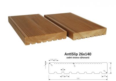 Terasový profil AntiSlip 26x140mm, 1m, zadní strana rýhovaná