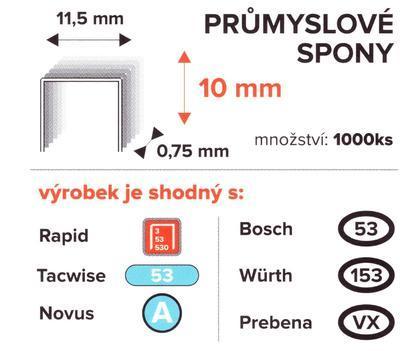 Spony PROFI 10mm/11,5mm 1000ks