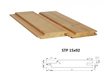 Interierová (saunová) palubka STP 15x92mm x 1m