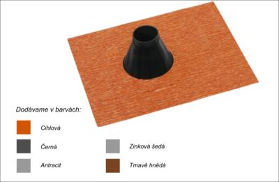 Střešní manžeta RoofSEAL RGD50 průchod 50-70mm, cihlová - 1