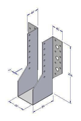 Trámová botka typ 1, 60x204x2mm