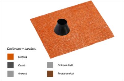 Střešní manžeta RoofSEAL GD23 průchod 42-55mm, cihlová - 1