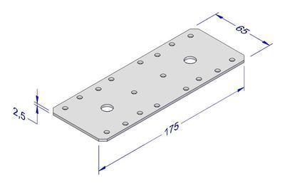 Spojovací deska kombi 65x175x2,5mm - 2