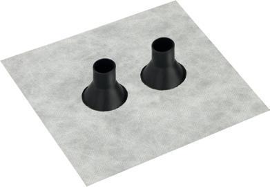 Dvojitá manžeta Fleece-Butyl GDD21 pro trubky 15-22mm - 2
