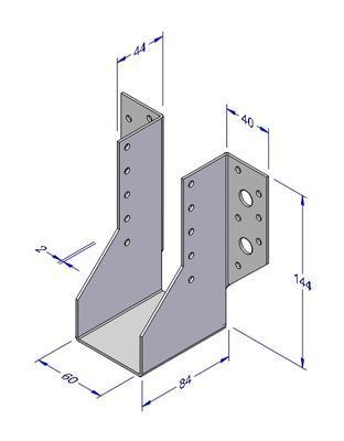 Trámová botka typ 1, 60x144x2mm - 2
