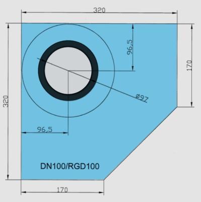 Rohová manžeta CornerSEAL RGD100 pro trubky 100-110mm  - 2