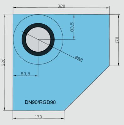 Rohová manžeta CornerSEAL RGD90 pro trubky 90-100mm  - 2