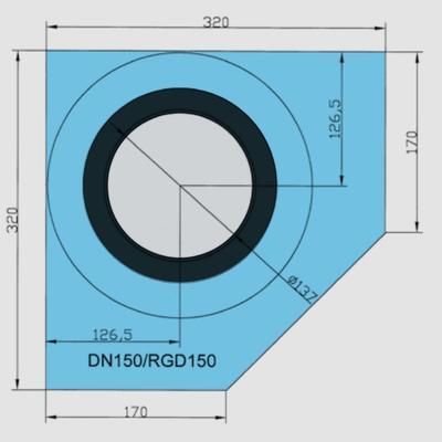 Rohová manžeta CornerSEAL RGD150 pro trubky 150-165mm - 2