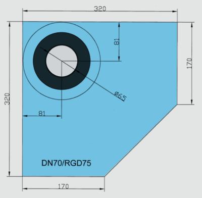 Rohová manžeta CornerSEAL RGD75 pro trubky 72-90mm  - 2