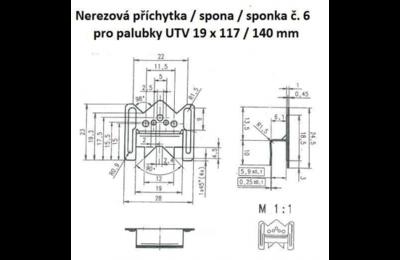 Nerezová sponka pro palubky UTV, UTS a Panel Systém 200ks - 2