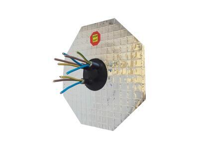 AL manžeta pro kabel 4-10mm, 4x průchod - 2