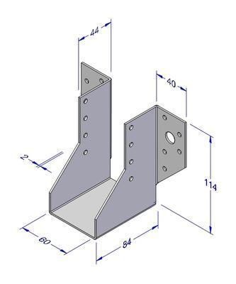Trámová botka typ 1, 60x114x2mm - 2