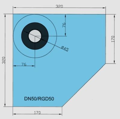Rohová manžeta CornerSEAL RGD50 pro trubky 50-72mm  - 2