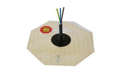 AL manžeta pro kabel 4-10mm, 1x průchod - 2