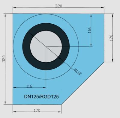 Rohová manžeta CornerSEAL RGD125 pro trubky 125-135mm  - 2