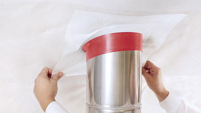 Tep. odol. manžeta Tyvek HOTSchott FRGD100 pro trubky 100-125mm skl 45°  - 3