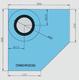Rohová manžeta CornerSEAL RGD90 pro trubky 90-100mm  - 3/4