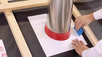 Tep. odol. manžeta Tyvek HOTSchott FRGD100 pro trubky 100-125mm skl 45°  - 4